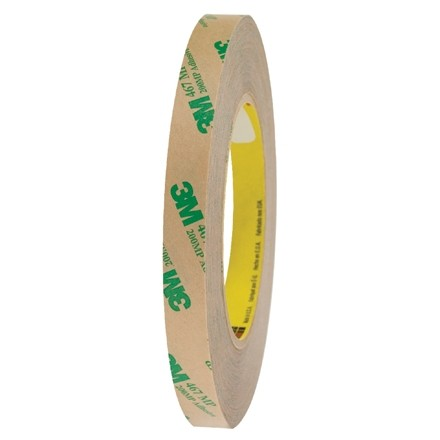 "3M 467MP High Performance Adhesive Transfer Tape, 1/2"" x 60 yds., 2 Mil Thick"