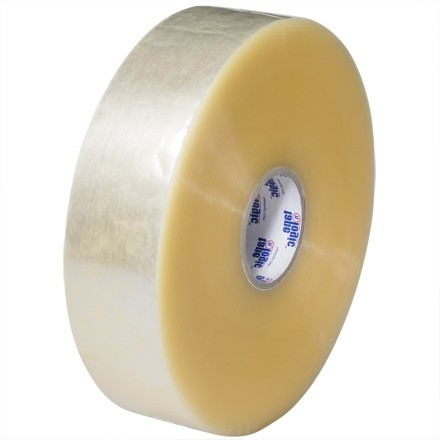 "Clear Machine Carton Sealing Tape, Economy, 3"" x 1000 yds., 2.5 Mil Thick"