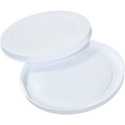 "Plastic End Caps For Tubes, 10"", White"