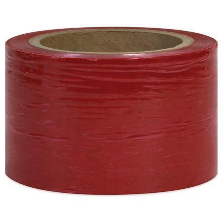 "Red Bundling Stretch Film, 80 Gauge, 3"" x 1000"