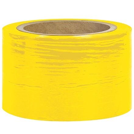 "Yellow Bundling Stretch Film, 80 Gauge, 3"" x 1000"