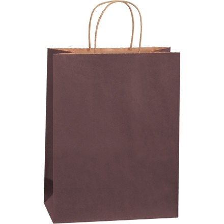 """Brown Tinted Paper Shopping Bags, Debbie - 10 x 5 x 13"""""""