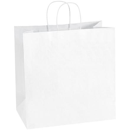 "White Paper Shopping Bags, Star - 13 x 7 x 13"""