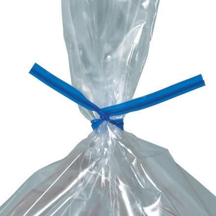 """Plastic Twist Ties, Blue, Pre-Cut, 9 x 5/32"""""""
