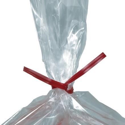 """Plastic Twist Ties, Red, Pre-Cut, 6 x 5/32"""""""
