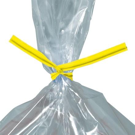 """Plastic Twist Ties, Yellow, Pre-Cut, 5 x 5/32"""""""