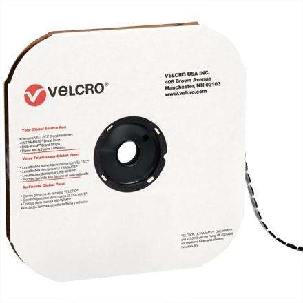 """VELCRO® Hook and Loop, Dots, Hook, 5/8"""", Black"""