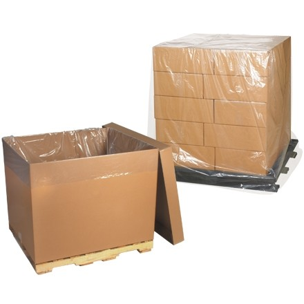 """Clear Pallet Covers, 54 x 44 x 96"""", 2 Mil"""