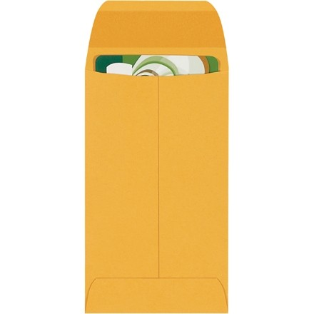 Gummed Envelopes, Kraft, 2 1/2 x 4 1/4""