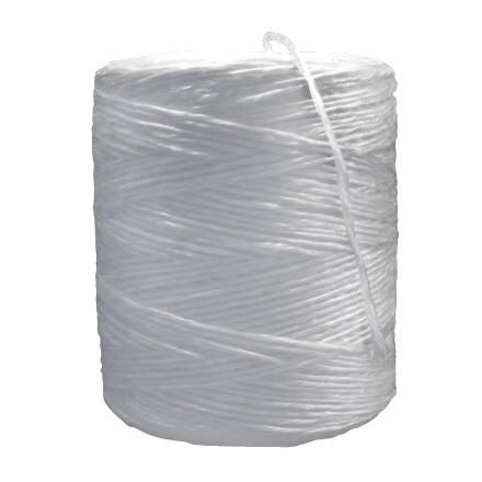 Polypropylene Twine, White, 1-Ply, 110 lb Tensile Strength