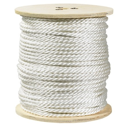 "Twisted Polyester Rope - 1/4"", White"