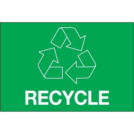 """Green """"Recycle"""" Labels, 3 x 2"""""""