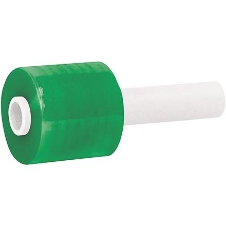 "Green Extended Core Bundling Hand Stretch Film, 80 Gauge, 3"" x 1000"