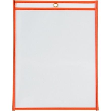 "9 x 12"" Neon Orange Job Ticket Holders"