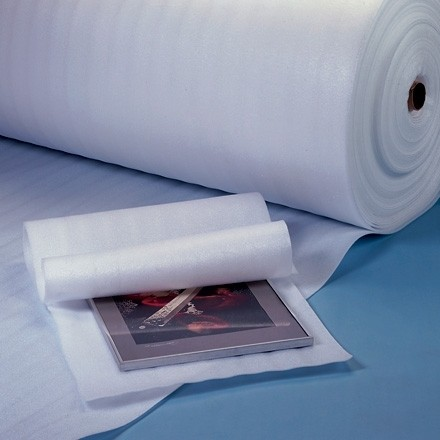 """Shipping Foam Rolls, 1/8"""" Thick, 24"""" x 550', Non-Perforated"""