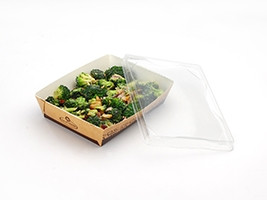 """Large Grab and Go Food Containers, 5 1/2 x 7 1/2 x 2"""""""