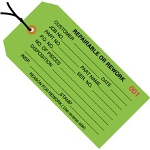 """4 3/4 x 2 3/8"""" Pre-Strung Repairable Or Rework Tags"""