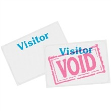 """One Day Visitor Badges, 3 x 2"""""""