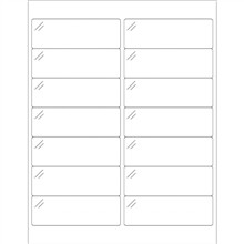 """Crystal Clear Laser Labels, 4 x 1 1/3"""""""