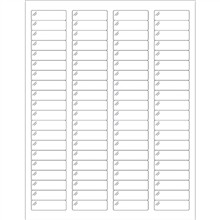 """Crystal Clear Laser Labels, 1 3/4 x 1/2"""""""
