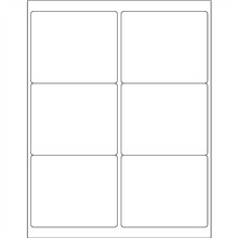 """Opaque White Blockout Laser Labels, 4 x 3 1/3"""""""
