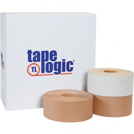 "Heavy Duty Water Activated Kraft Sealing Tape, 3"" x 450"