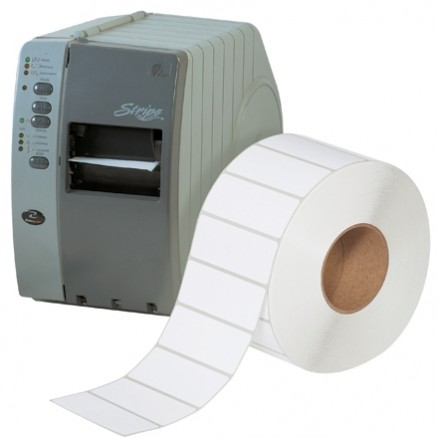 """White Industrial Direct Thermal Labels, 4 x 1 1/2"""""""