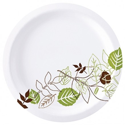 """Dixie® Heavy Weight Paper Plates, White, 10 1/4"""""""