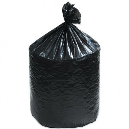 Trash Liners, 33 Gallon, .7 Mil, Black