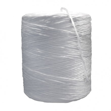 Polypropylene Twine, White, 1-Ply, 145 lb Tensile Strength