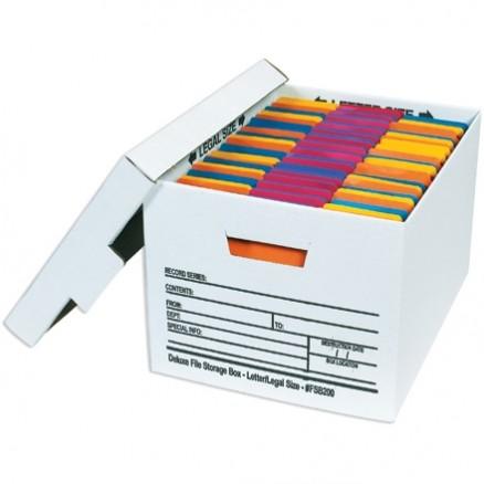 "Quick File Storage Boxes, 15 x 12 x 10"""