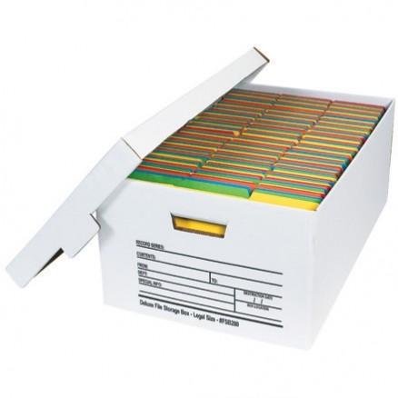 "Quick File Storage Boxes, 24 x 15 x 10"""