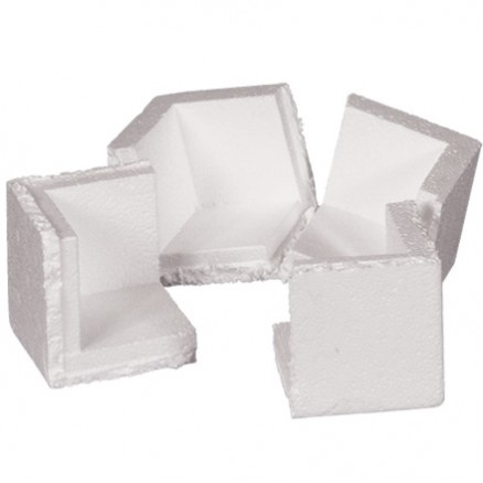 "Foam Corners, 3 3/4 x 3 3/4 x 3 3/4"""