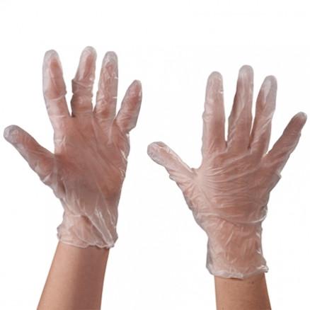 Powdered Vinyl Gloves - Clear - 3 Mil - Medium