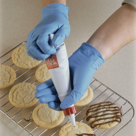 Blue Nitrile Gloves - 4 Mil - Large
