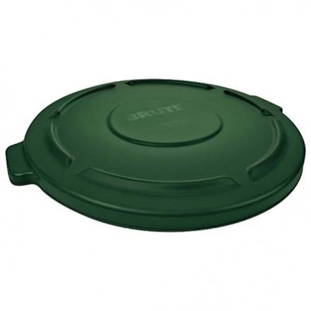 Rubbermaid® Brute® Trash Can Flat Lid - 55 Gallon, Green