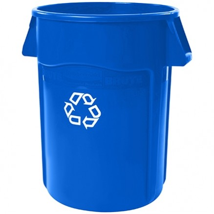 Rubbermaid® Brute® Recycling Container - 44 Gallon, Blue