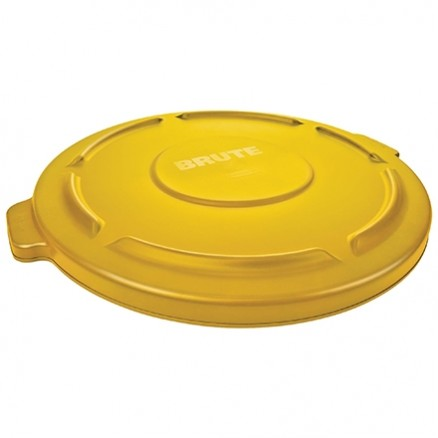 Rubbermaid® Brute® Trash Can Flat Lid - 55 Gallon, Yellow