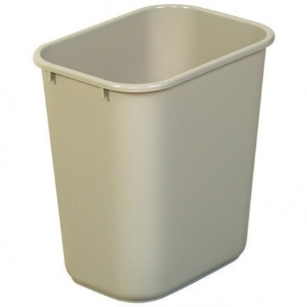 Rubbermaid® Office Trash Can - 7 Gallon, Beige