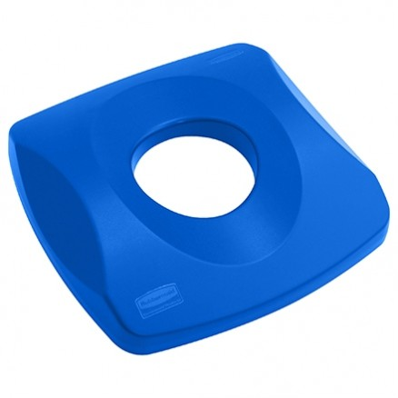 Rubbermaid® Square Recycling Container Bottle Lid - 23 Gallon, Blue