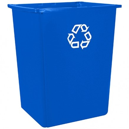 Rubbermaid® Glutton® Recycling Container - 56 Gallon, Blue