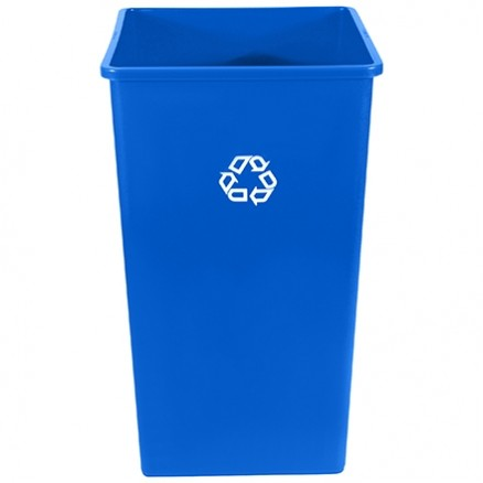 Rubbermaid® Square Recycling Container - 50 Gallon, Blue