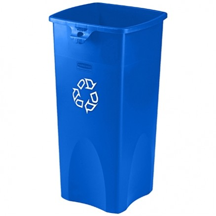 Rubbermaid® Square Recycling Container - 23 Gallon, Blue