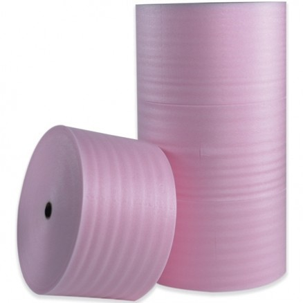 "Anti-Static Shipping Foam Rolls, 1/8"" Thick, 12"" x 550', Non-Perforated"