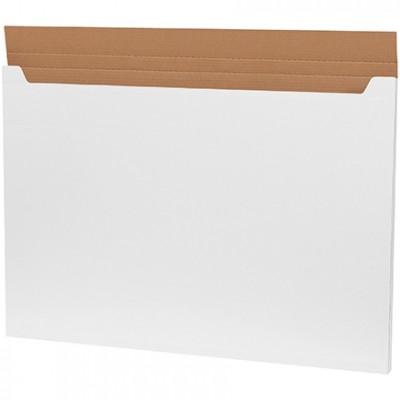 Jumbo Fold-Over Mailers, White, 38 x 26 x 1