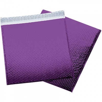 Glamour Bubble Mailers, Purple, 16 x 17 1/2