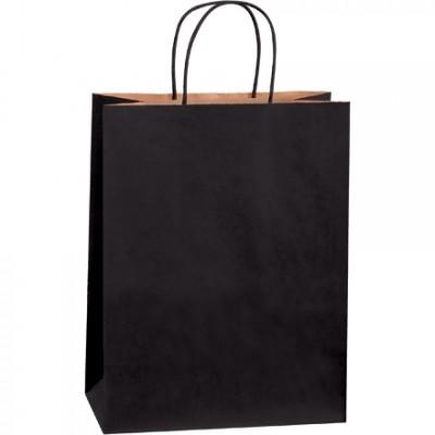 Black Tinted Paper Shopping Bags, Debbie - 10 x 5 x 13