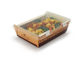 Medium Grab and Go Food Containers With Lid, 5 x 6 3/10 2