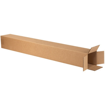 """Cajas de Corrugado, 5 x 5 x 50 """", Kraft"""