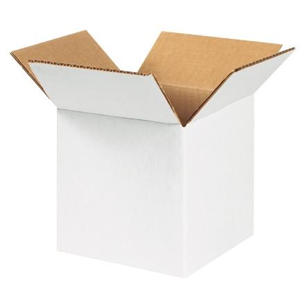 """Cajas de Corrugado, 5 x 5 x 5 """", Blancas"""